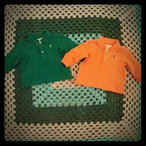 2 NWT Ralph Lauren Baby Boy Polos Size 3 Mos